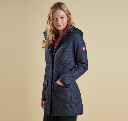 Barbour LQU0661NY71 Kirkby Quilted Jacket Navy