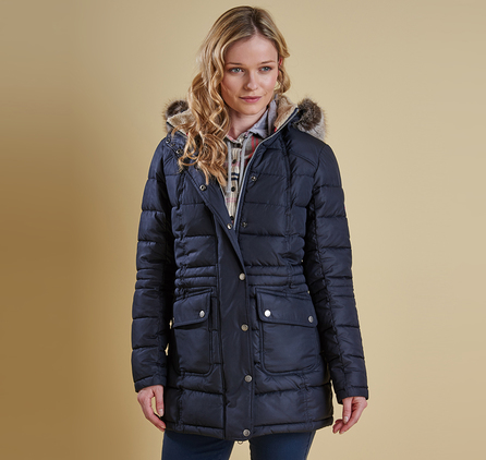 Barbour LQU0660NY71 Landry Long Quilted Jacket
