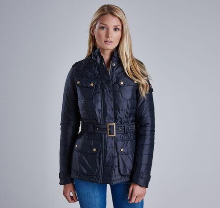 Barbour LQU0658BK91 Worldcrosser Belted Quilted Jacket