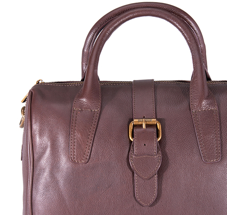 Barbour LBA0231BR71 Melrose Leather Tote Dark Brown