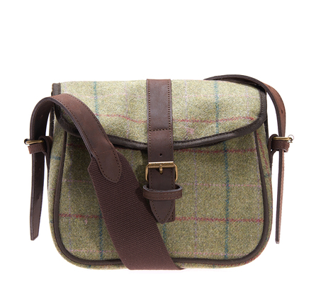 Barbour LBA0237OL52 Tweed Cartridge Bag Olive Tweed Pink/Lily
