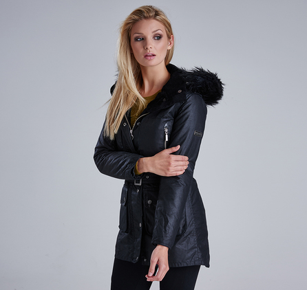 Barbour LWX0559BK91 Katana Wax Parka Black