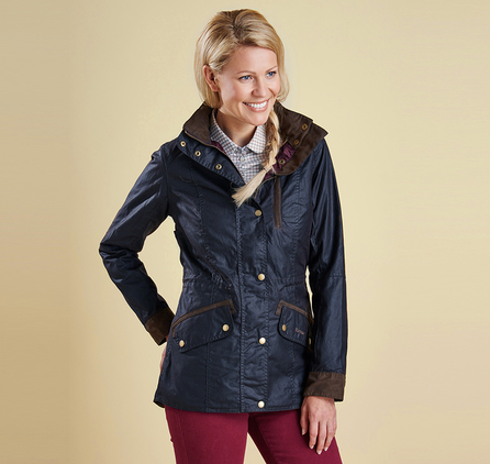 Barbour LWX0537NY92 Badminton Wax Jacket Navy