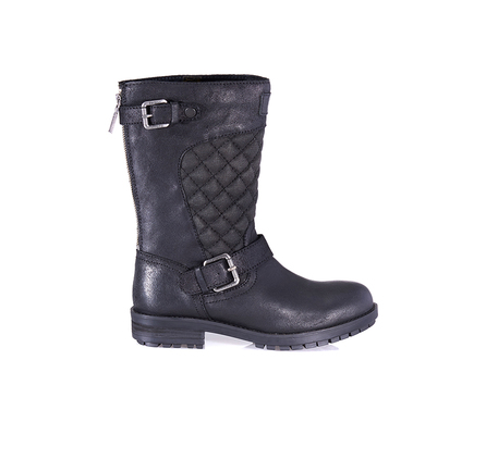 Barbour LFO0146BK11 Shadow Quilt Biker Boot Black
