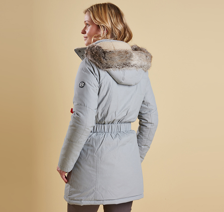 Barbour LWB0352GY11 Kirkby Coat Silver Ice