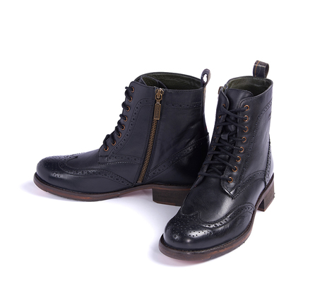 Barbour LFO0166BK11 Thirston Brogue Boot Black