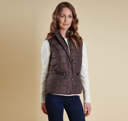 Barbour LQU0675BR72 Terrain Gilet Dark Chocolate Brown
