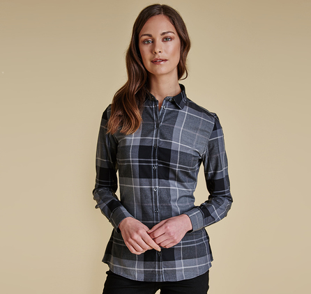 Barbour LSH0904GY71 Carlin Shirt Grey Tonal