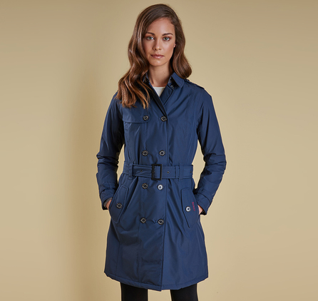 Barbour LWB0354GY91 Millfire Trench Jacket Carbon