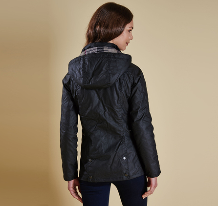 Barbour LWX0553BK71 Millfire Wax Jacket Black