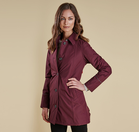 Barbour LWB0355RE71 Straiton Wax Jacket Bordeaux