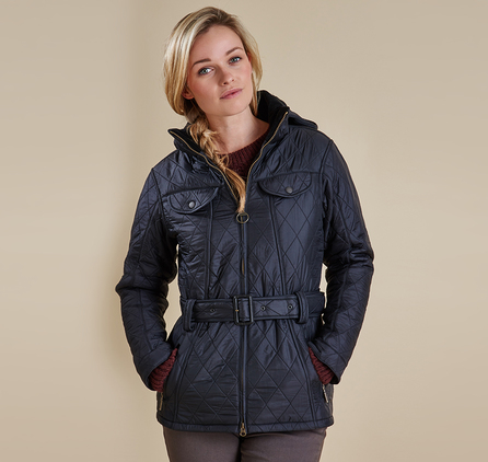 Barbour LQU0067BK91 Grace Polarquilt Jacket Black