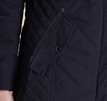 Barbour LQU0674BK11 Terrain quilted Parka Black