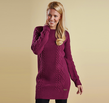 Barbour LKN0506PU72 Carter Knit Dress Huckleberry