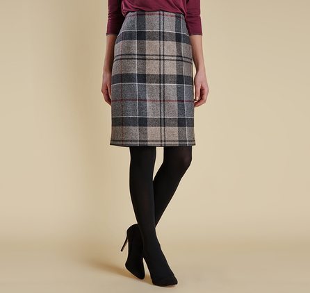 Barbour LSK0021TN35 Nebit Pencil Skirt Winter Tartan