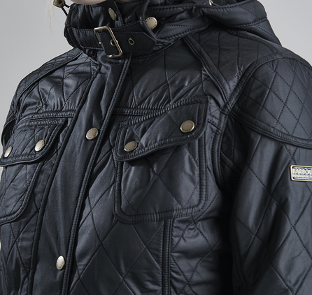 Barbour LQU0555BK11 Arrow Parka Jacket Black/Black