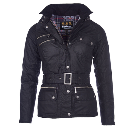Barbour LWX0539BK71 Fireblade Belted Wax Jacket
