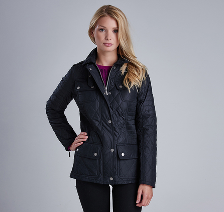 Barbour LQU0653BK11 Fireblade Ribbed Quilted Jacket