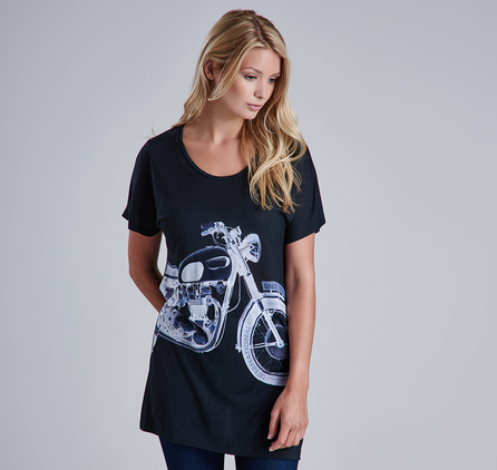 Barbour LTS0074BK11 Springer Bike Tee Black