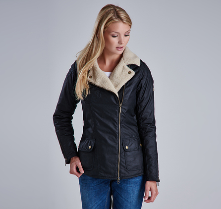 Barbour LWX0544BK71 Springer Wax Jacket Black