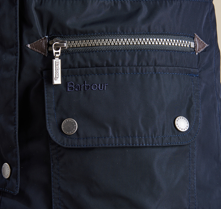 Barbour LWB0302NY71 Deck Coat Navy/Chilli Red
