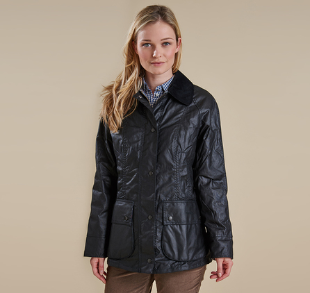 Barbour LWX0051BK11 Beadnell Waxed Jacket Black