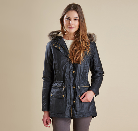 Barbour LWX0303BK71 Kelsall Waxed Jacket Black/Modern