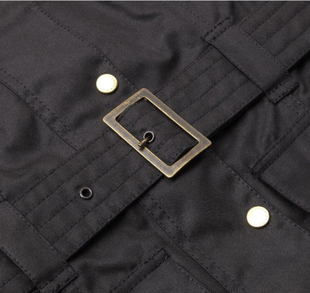 Barbour LWX0003BK51 Ladies International Waxed Jacket
