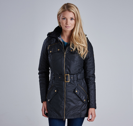 Barbour LWX0541BK71 Rectifier Belted Wax Jacket