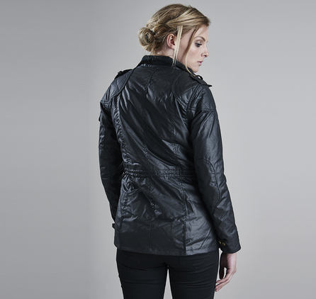 Barbour LWX0208BK91 Speedway Waxed Jacket Black