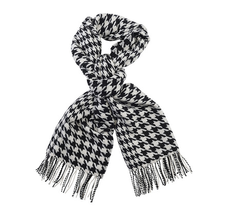 Barbour LSC0082BK11 Houndstooth Lambswool Stole