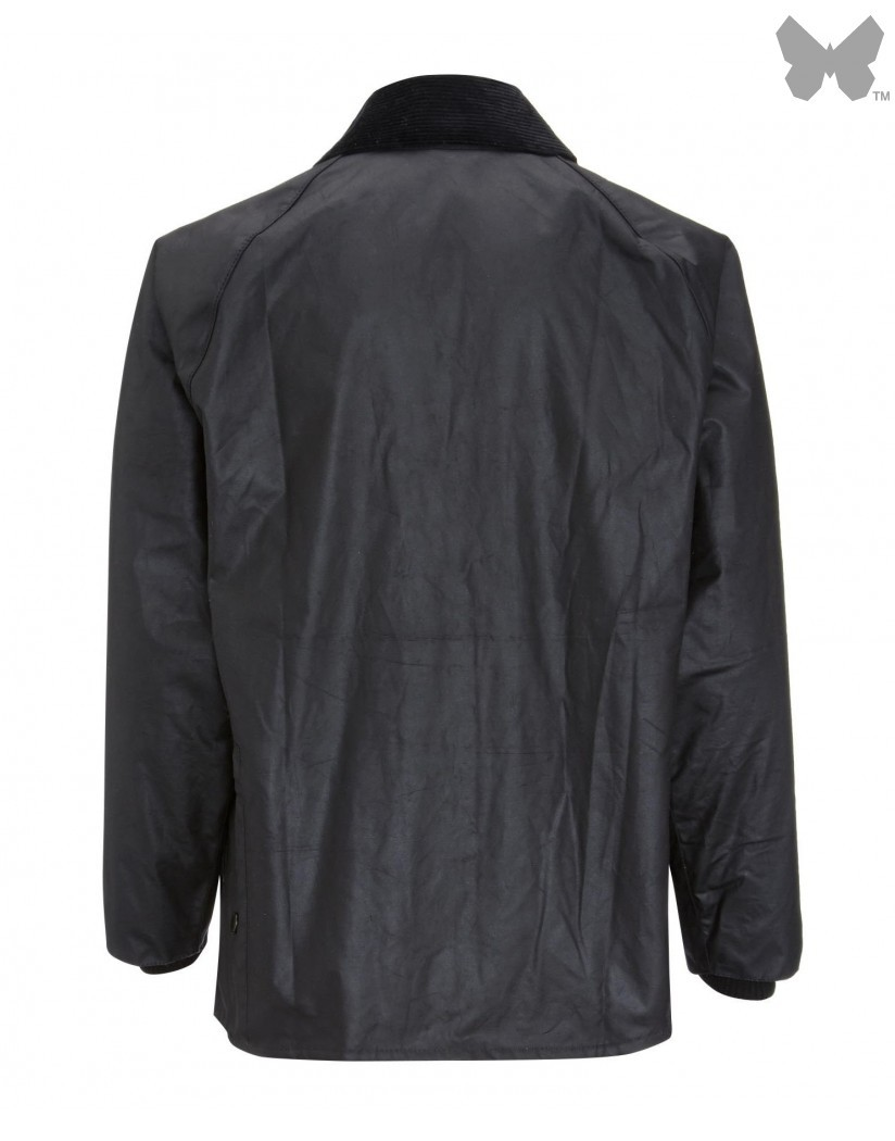 Barbour Black Bedale Wax Jacket