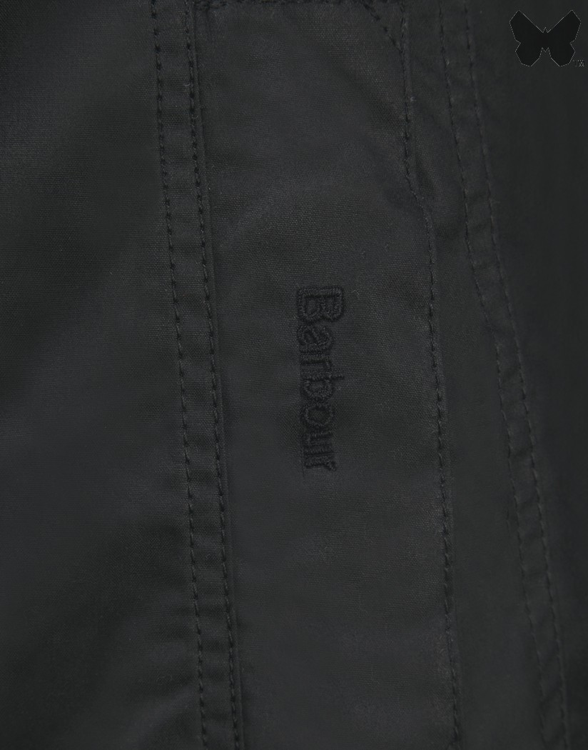 Barbour Black Belsay Waxed Jacket