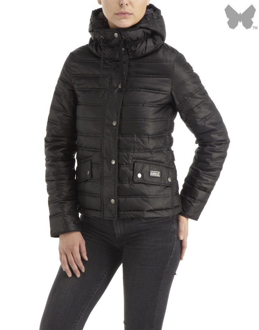 Barbour Black Crown Quilt Jacket