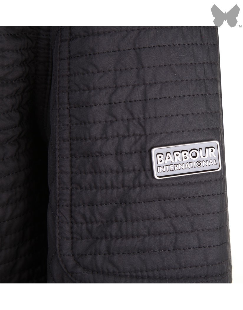 Barbour Black Folco Extractor Quilted Jacket