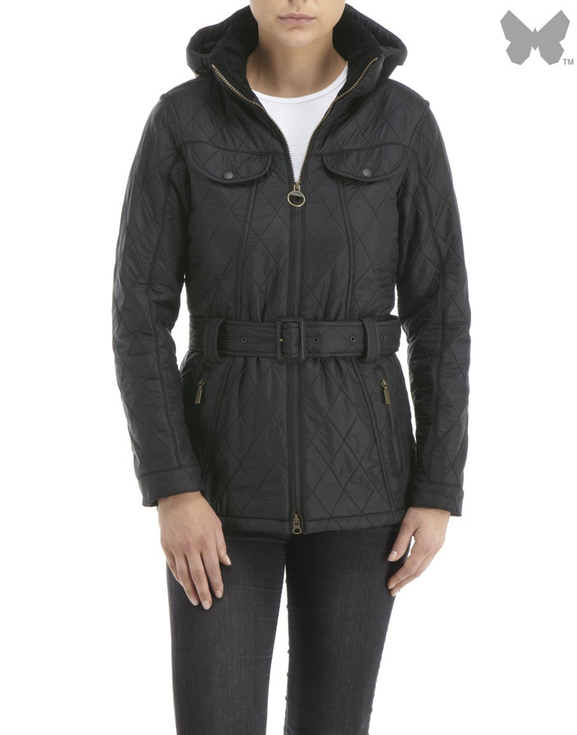 Barbour Black Grace Polarquilt Jacket