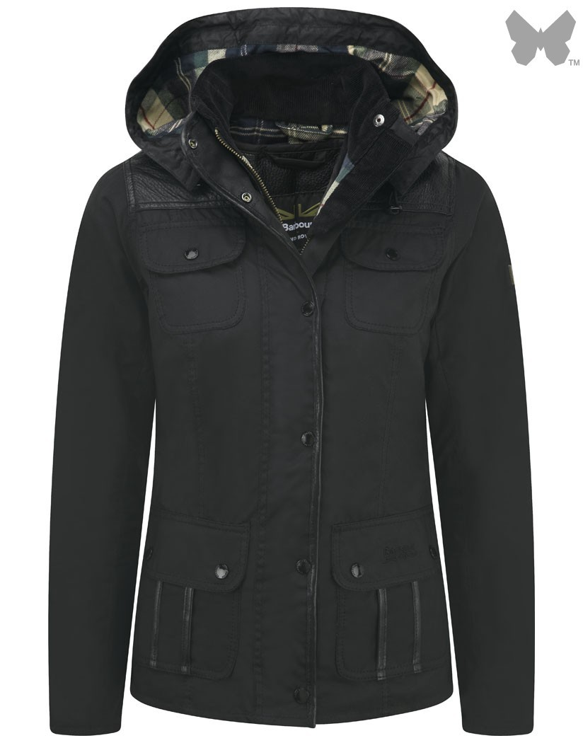 Barbour Black Greenleak Waxed Jacket