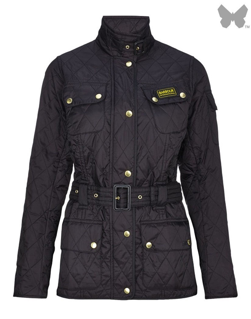 Barbour Black International Quilted Jacket