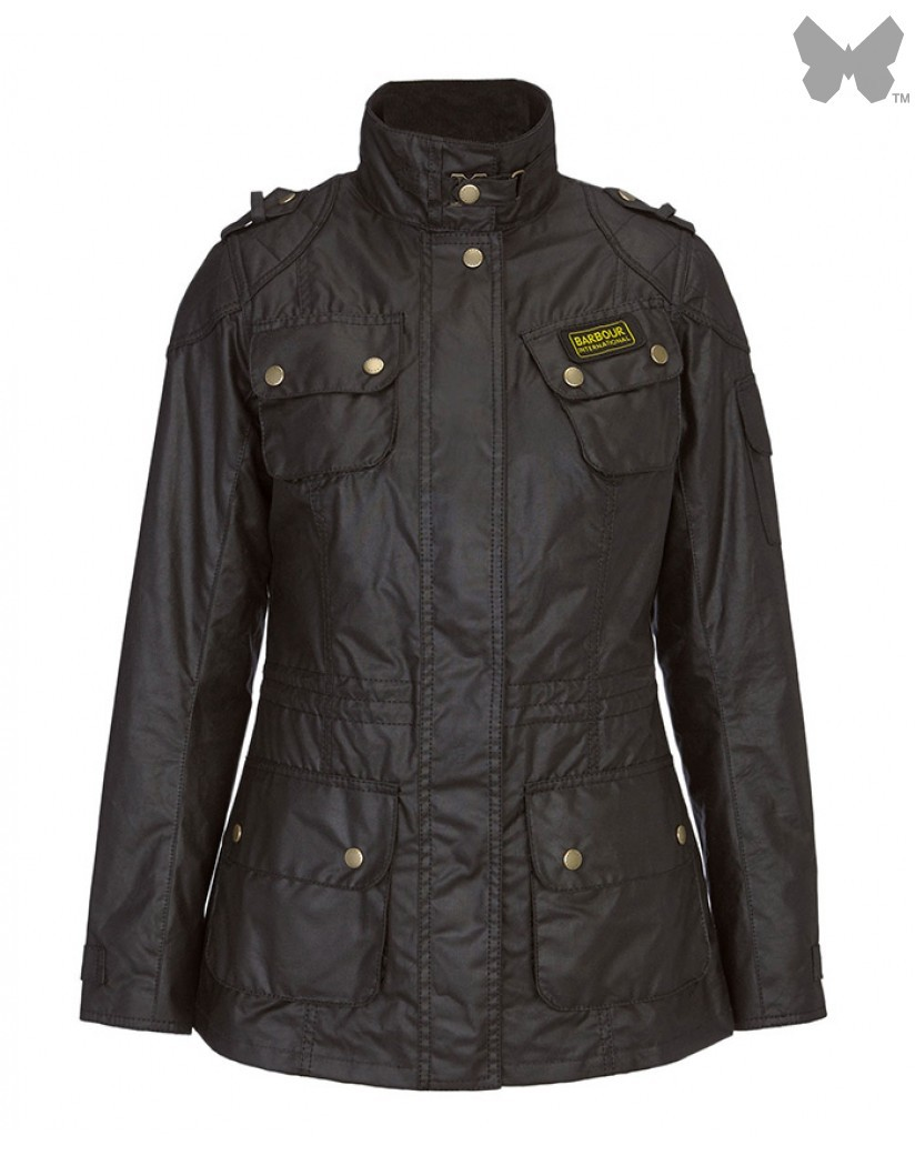 Barbour Black Speedway International Wax Jacket