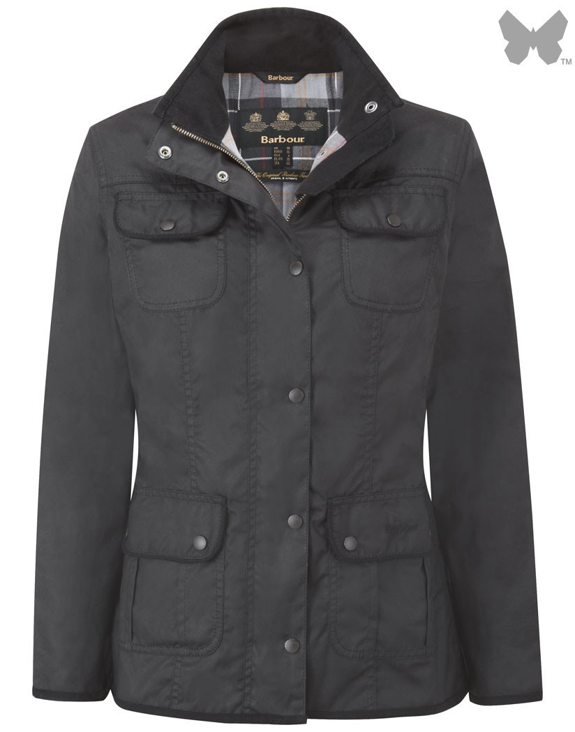 Barbour Black Utility Jacket
