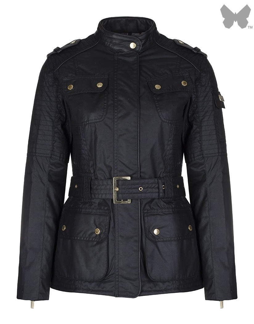 Barbour Black Vanier Wax Jacket