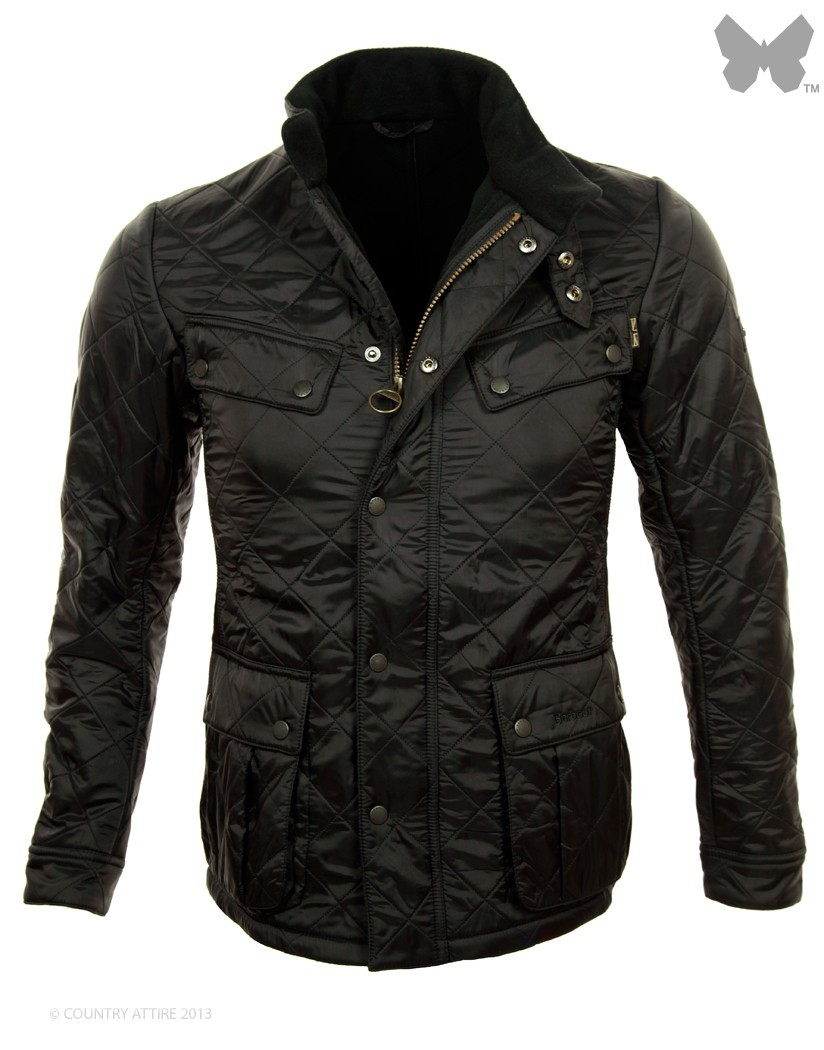 Barbour Black Ariel Polarquilt Jacket