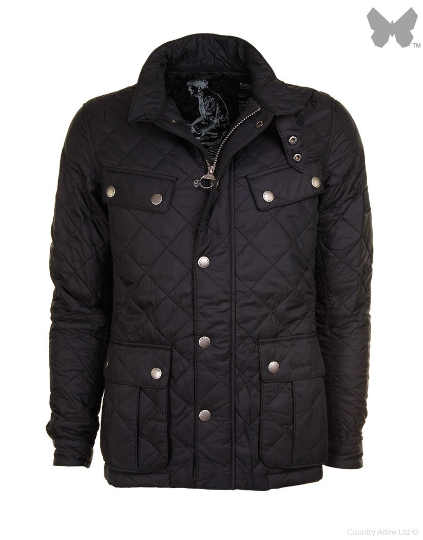 Barbour Black Ariel Quilt Jacket