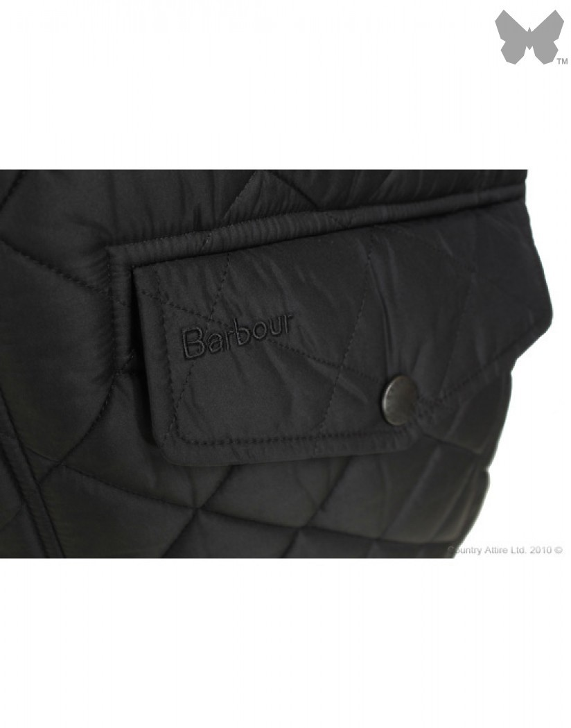 Barbour Black Bardon Quilt Jacket
