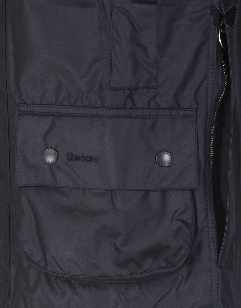Barbour Black Beaufort Wax Jacket