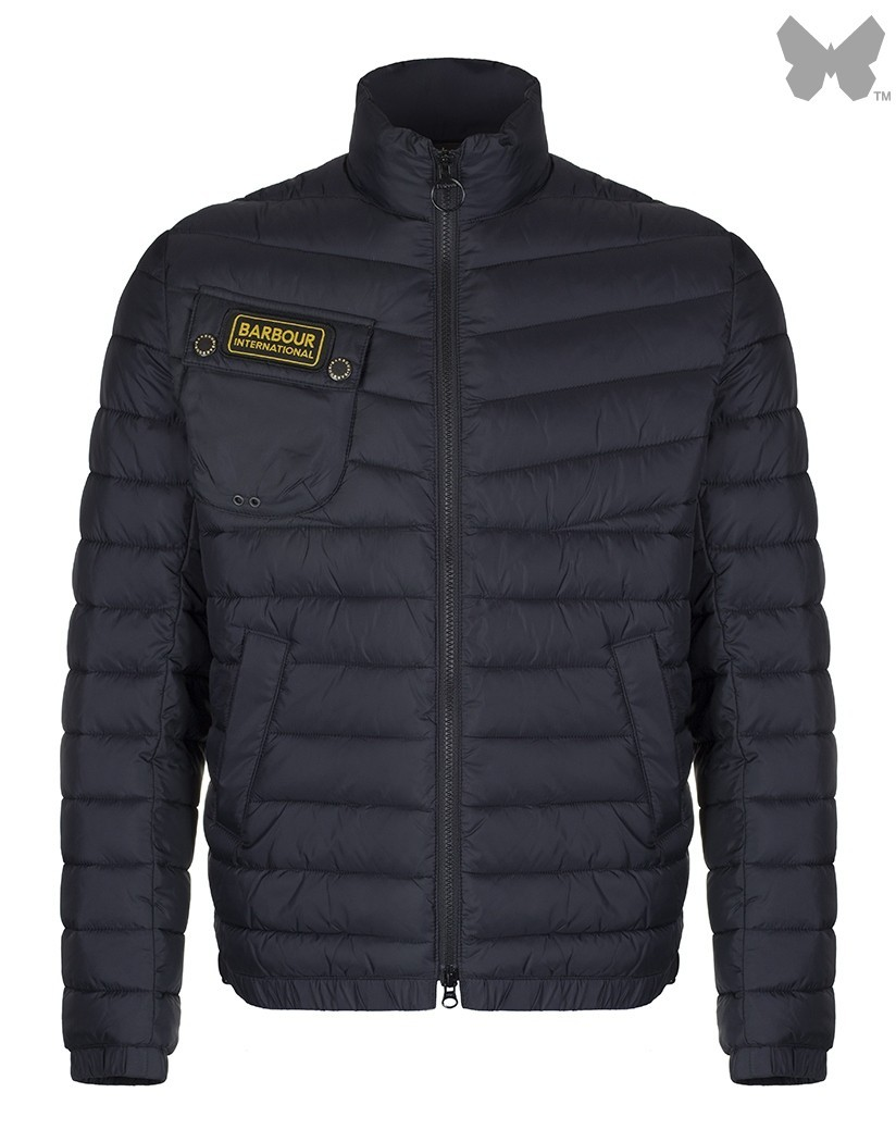 Barbour Black Chain Baffle Quilted Jacket
