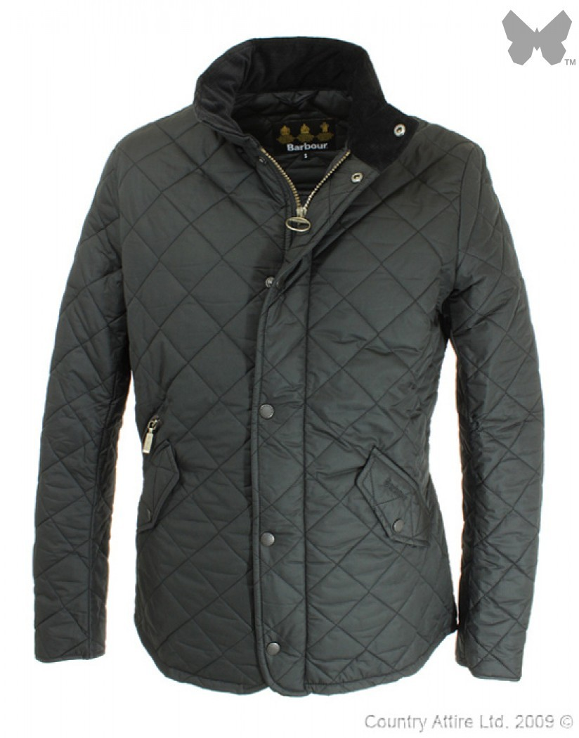 Barbour Black Chelsea Sportsquilt Jacket