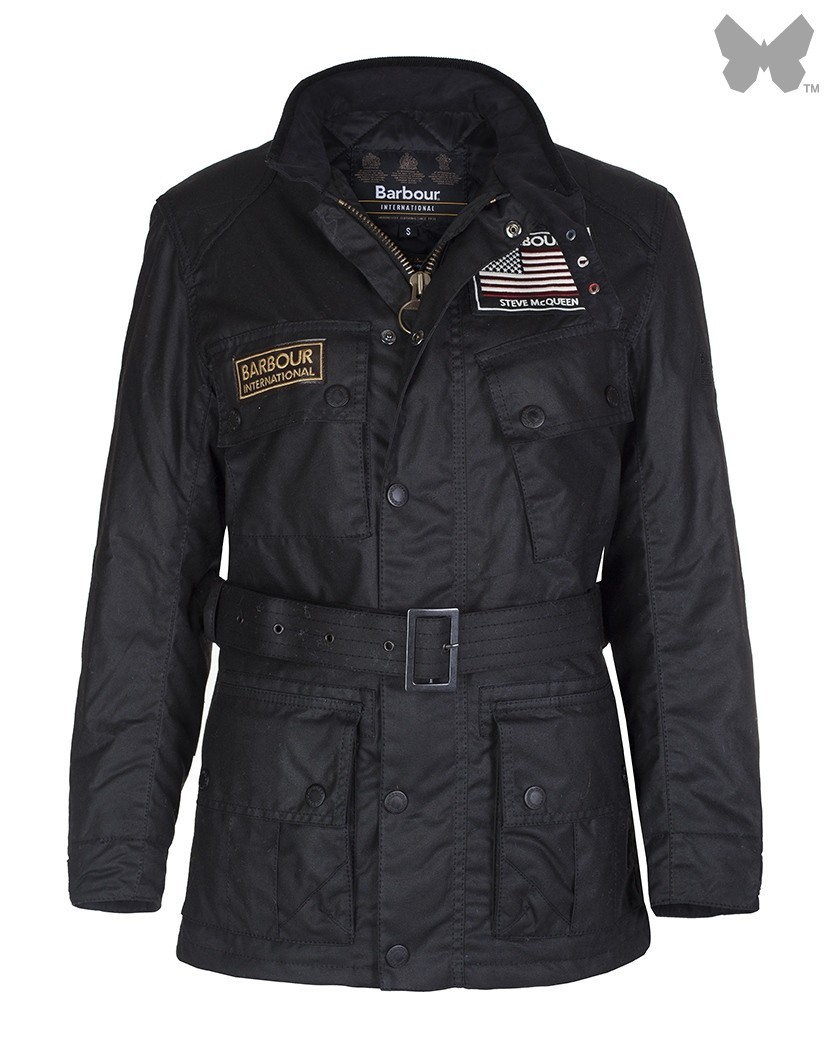 Barbour Black Cincinnati Wax Jacket