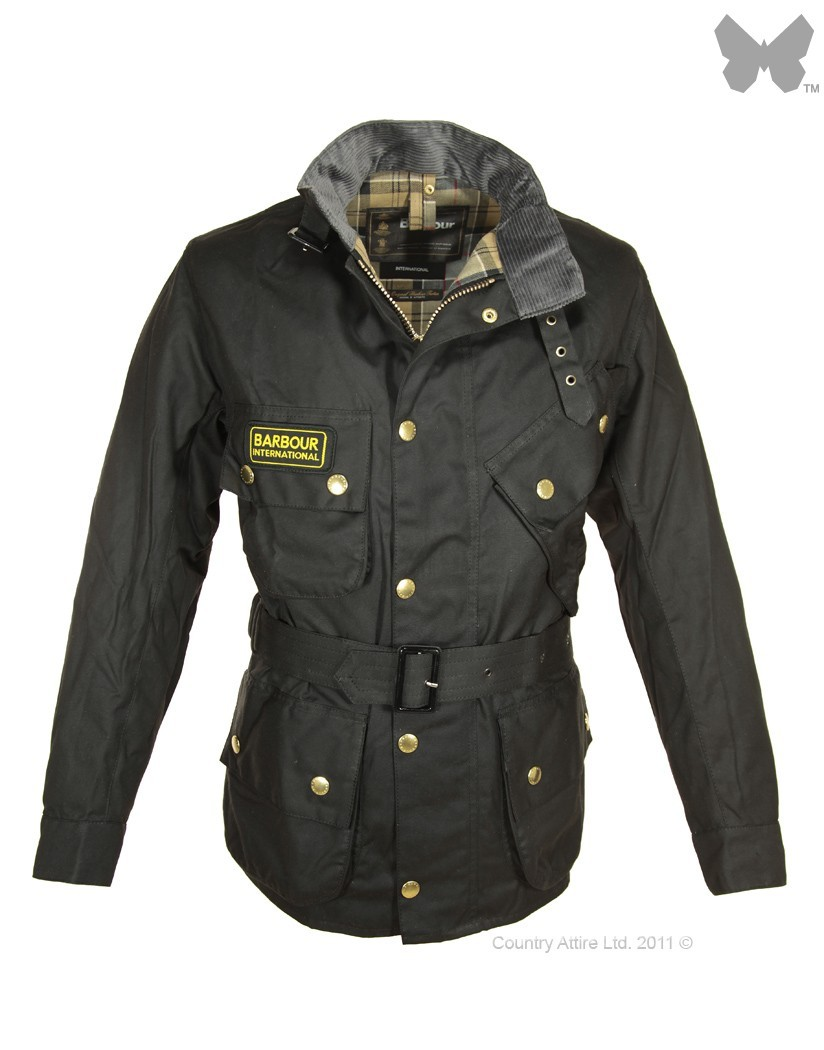 Barbour Black International Jacket