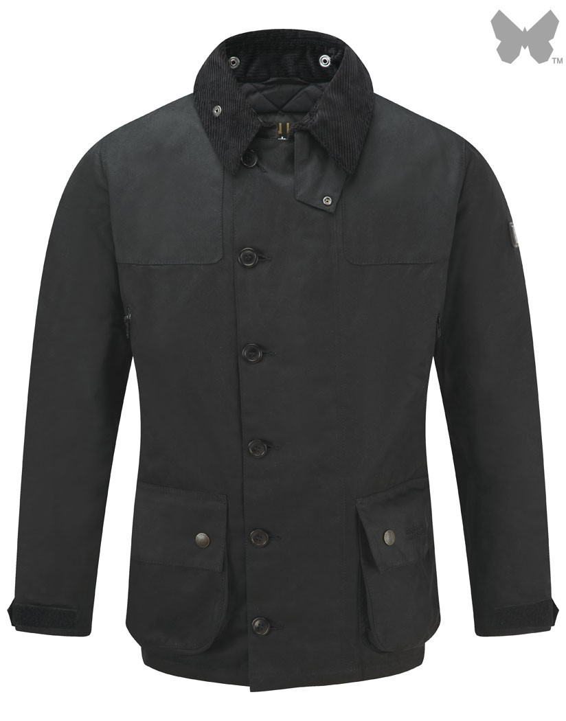 Barbour Black Keenshaw Waxed Jacket